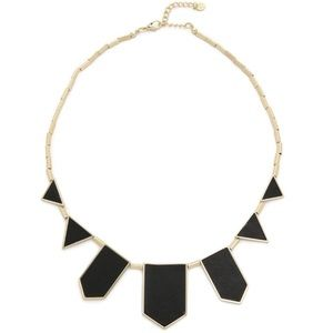 House of Harlow Black  1960 Station Necklace